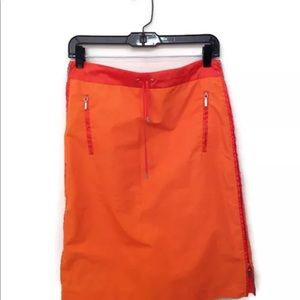 Jil Sander Skirt Pencil Sporty Zipper 34 Orange
